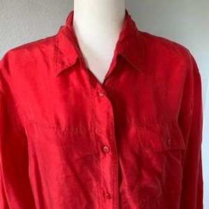 The Limited Silk Long Sleeve Button Up Blouse Sz M